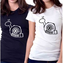 New T-Shirt Boosted Snail JDM Turbocharger Womens Ladies Tee Size S To 2XL