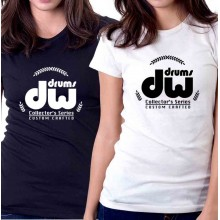 New Tee T-Shirt Dw Drums Collectors Series Custom Crafted Womens Ladies Sz S-2XL