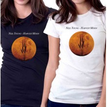 New T-Shirt Neil Young Harvest Moon Music Legend Album Cover Womens Tee Sz S2XL