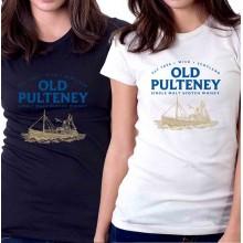 New T-Shirt Old Pulteney Single Malt Scotch Whisky Logo Womens Tee Sz STo2XL